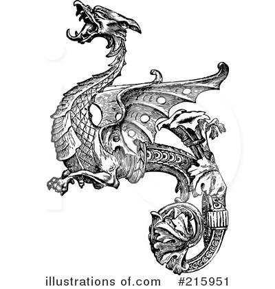 dragon clipart 215951 illustration by bestvector