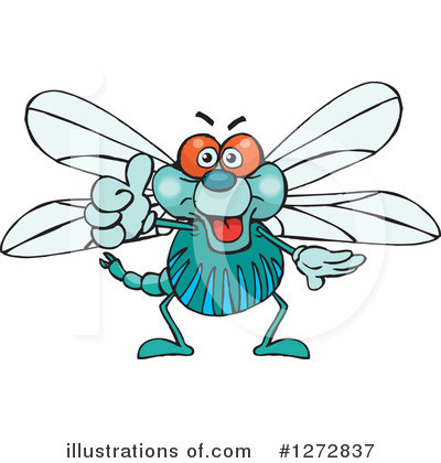 Dragonfly Clipart #1272837 by Dennis Holmes Designs