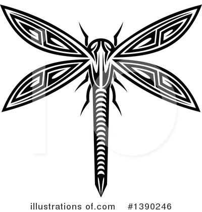 Dragonfly Clipart #1390246 by Vector Tradition SM