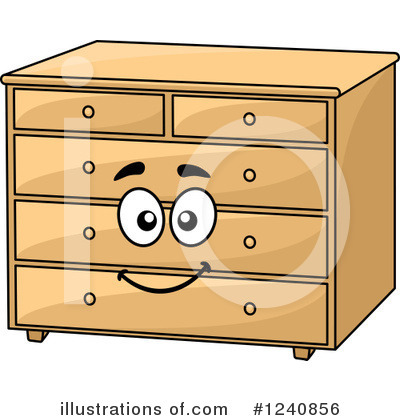 Dresser Clipart #1240856 - Illustration by Vector Tradition SM