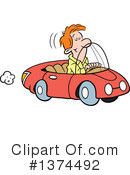 Driving Clipart #1374492 by Johnny Sajem