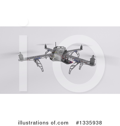 Drone Clipart #1335938 by KJ Pargeter