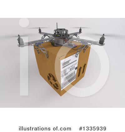 Drone Clipart #1335939 by KJ Pargeter