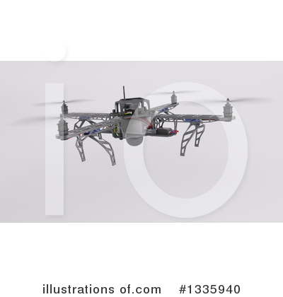 Drone Clipart #1335940 by KJ Pargeter