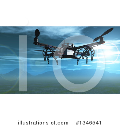 Royalty-Free (RF) Drone Clipart Illustration by KJ Pargeter - Stock Sample #1346541