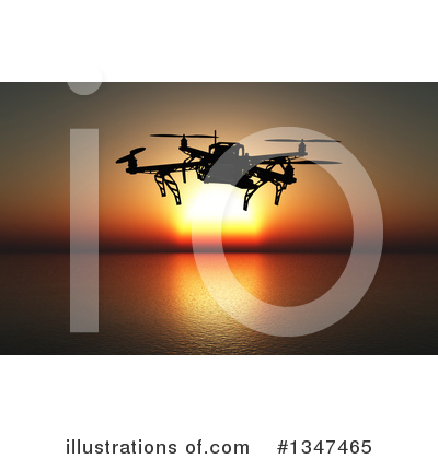 Drone Clipart #1347465 by KJ Pargeter