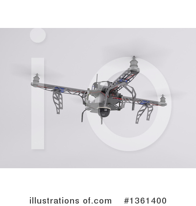 Drone Clipart #1361400 by KJ Pargeter