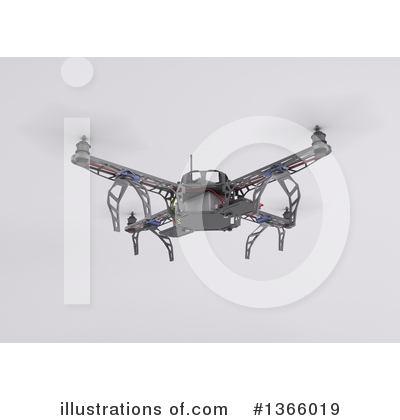 Drone Clipart #1366019 by KJ Pargeter