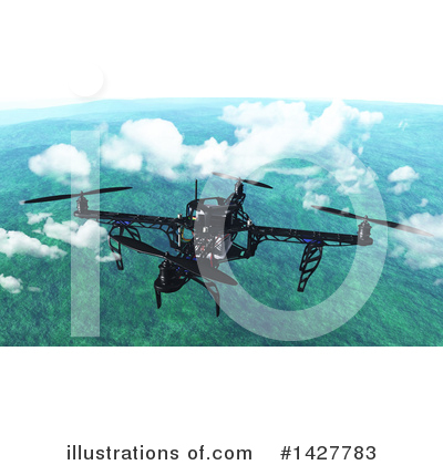 Drone Clipart #1427783 by KJ Pargeter