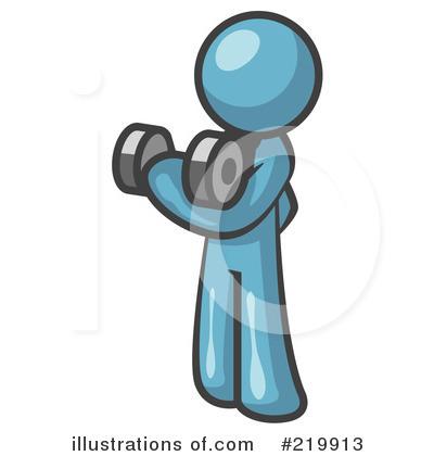 Dumbbells Clipart #219913 - Illustration by Leo Blanchette