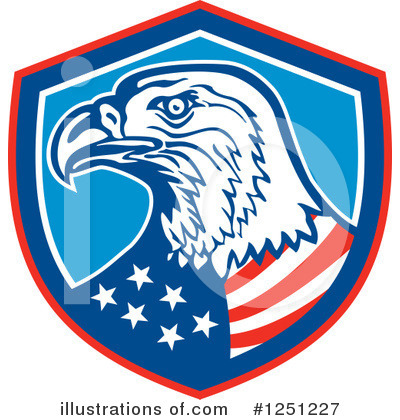 Bald Eagle Clipart #1251227 by patrimonio