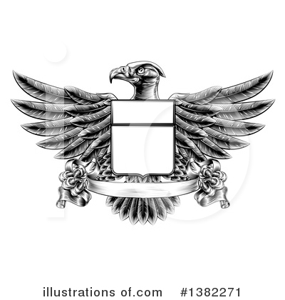 Bald Eagle Clipart #1382271 by AtStockIllustration