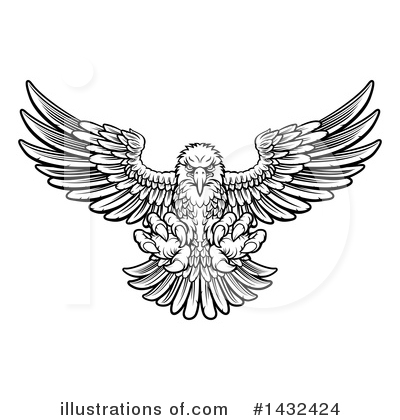 Bald Eagle Clipart #1432424 by AtStockIllustration