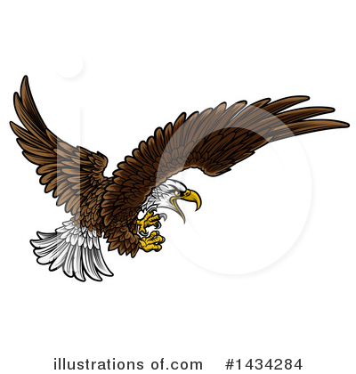 Bald Eagle Clipart #1434284 by AtStockIllustration