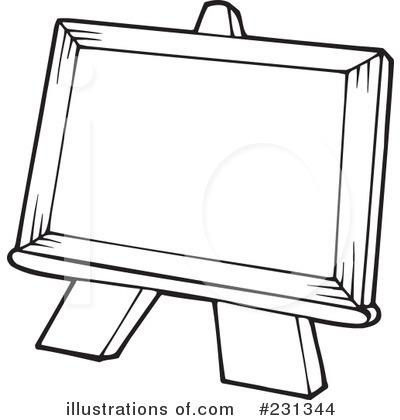 Easel Clipart #231344 - Illustration by visekart