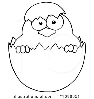 Easter Chick Clipart #1096651 - Illustration by Hit Toon