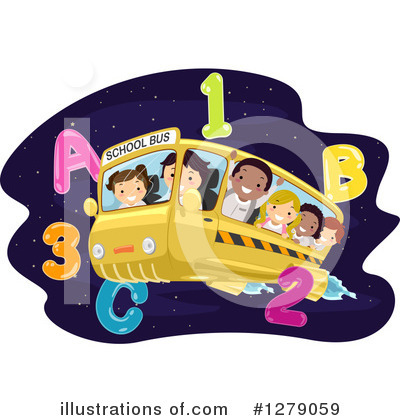 School Bus Clipart #1279059 by BNP Design Studio