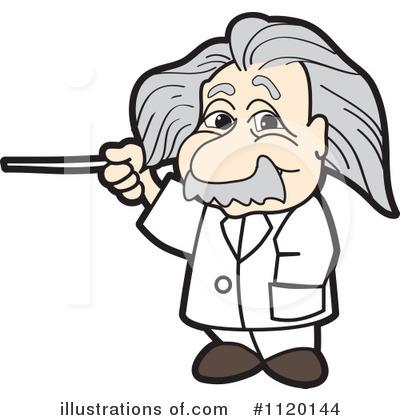 Einstein Clipart #1120144 - Illustration by Toons4Biz