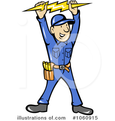 Royalty Free RF Electrician Clipart Illustration 1060915 By Patrimonio