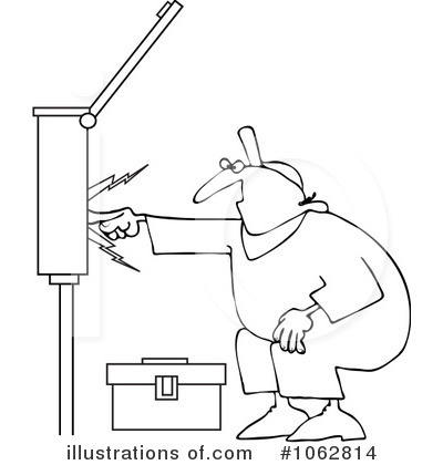 Royalty Free RF Electrician Clipart Illustration 1062814 By Djart