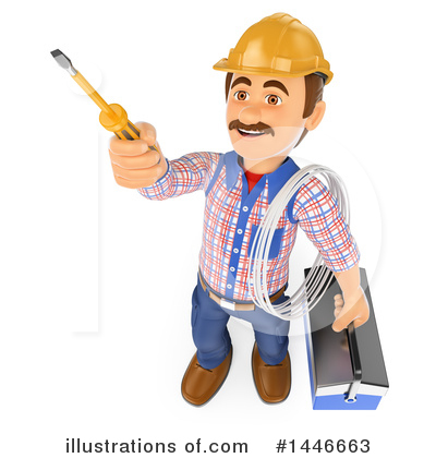 Electrician Clipart #1446663 by Texelart