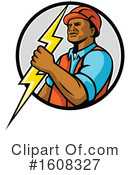Electrician Clipart #1608327 by patrimonio