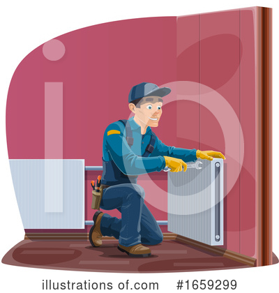 Electrician Clipart #1659299 by Vector Tradition SM