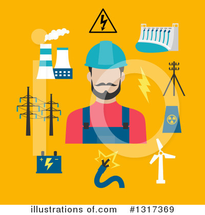 Electrician Clipart #1317369 by Vector Tradition SM