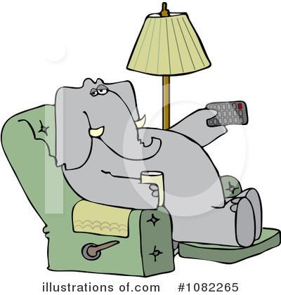 Watching Tv Clipart #1272910 - Illustration by djart
