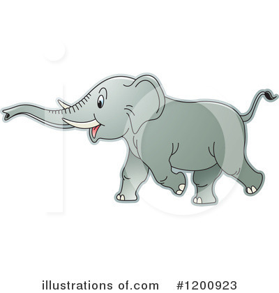 Elephant Clipart #1200923 by Lal Perera
