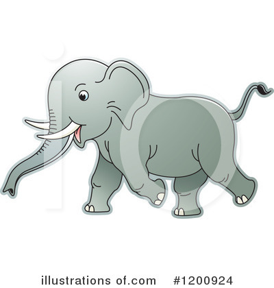Elephant Clipart #1200924 by Lal Perera