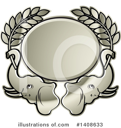 Elephant Clipart #1408633 by Lal Perera