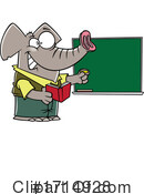 Elephant Clipart #1714928 by toonaday