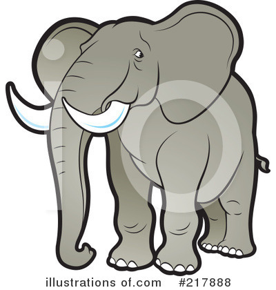 Royalty-Free (RF) Elephant Clipart Illustration by Lal Perera - Stock Sample #217888