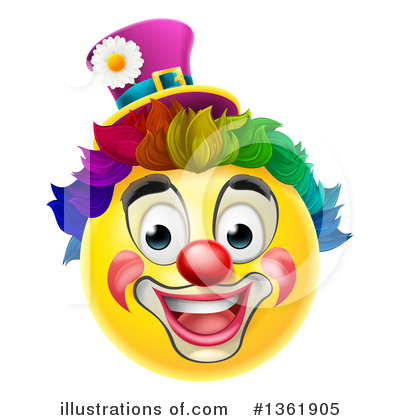 Clown Clipart #1361905 by AtStockIllustration