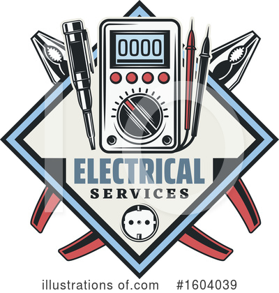 Electrician Clipart #1604039 by Vector Tradition SM