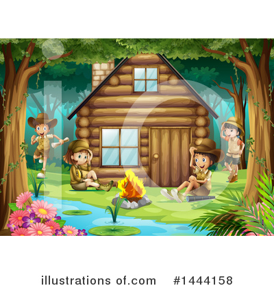 Campfire Clipart #1444158 by Graphics RF