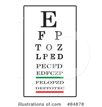 Royalty Free Rf Eye Chart Clipart Ilration By Pams Stock Sample