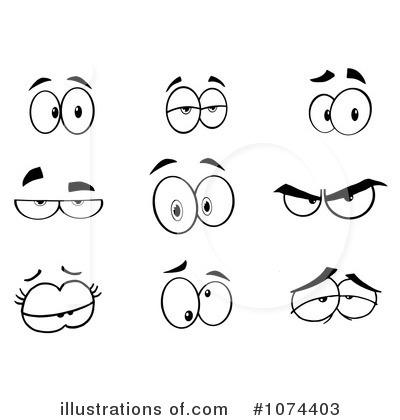 Eyes Clipart #1074403 - Illustration by Hit Toon