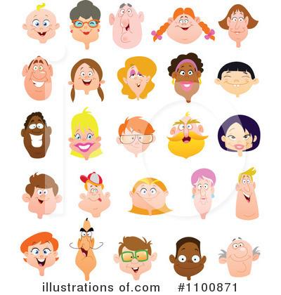 faces clipart 1100871 illustration by yayayoyo rh illustrationsof com faces clipart black and white face clipart black and white