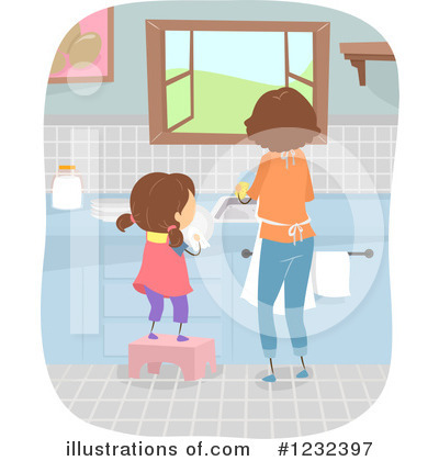Washing Dishes Clipart #1232397 by BNP Design Studio
