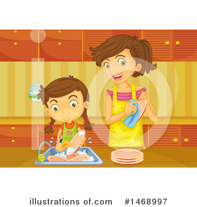 Washing Dishes Clipart #1468997 by Graphics RF