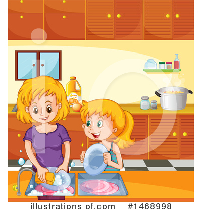 Washing Dishes Clipart #1468998 by Graphics RF