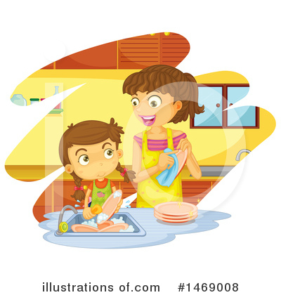 Washing Dishes Clipart #1469008 by Graphics RF