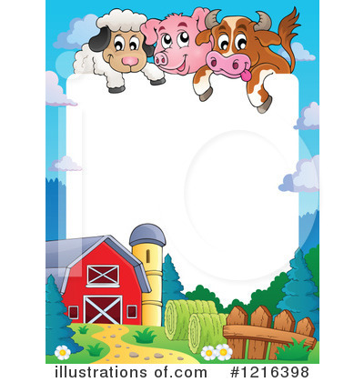 farm animal clipart 1216398 illustration by visekart rh illustrationsof com free farm pictures clip art free printable farm clip art