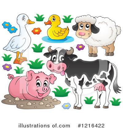 farm animal clipart 1216422 illustration by visekart rh illustrationsof com free farm animal clipart black and white free farm animal clipart for teachers