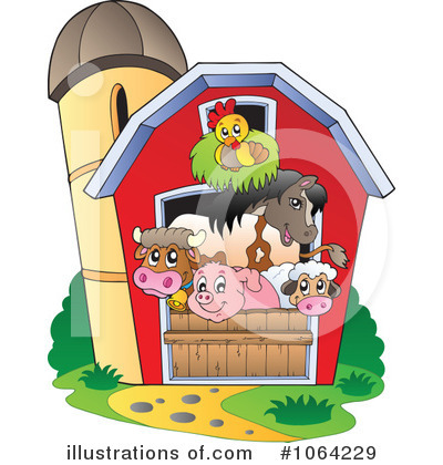 Farm Animals Clipart #1064229 - Illustration by visekart