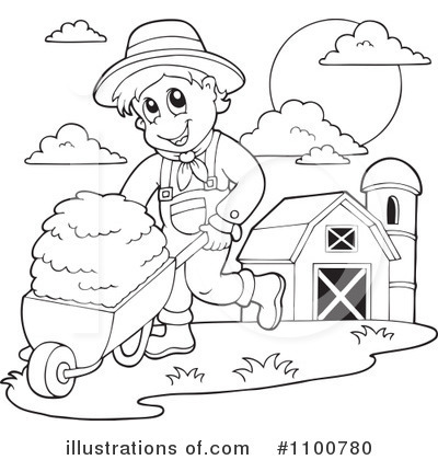 Farmer Clipart #1100780 - Illustration by visekart
