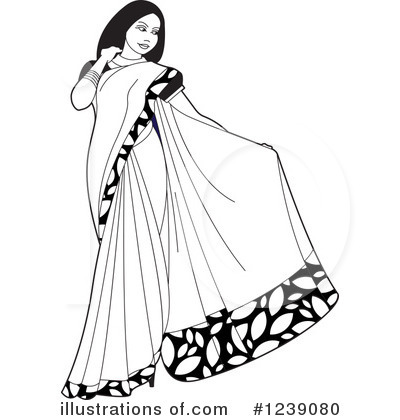 Fashion Clipart #1239080 - Illustration by Lal Perera