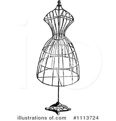 Fashion Design Clipart 1113724 Illustration By Prawny Vintage